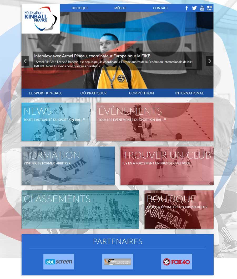 Site web kin-ball.fr - Responsive Pc