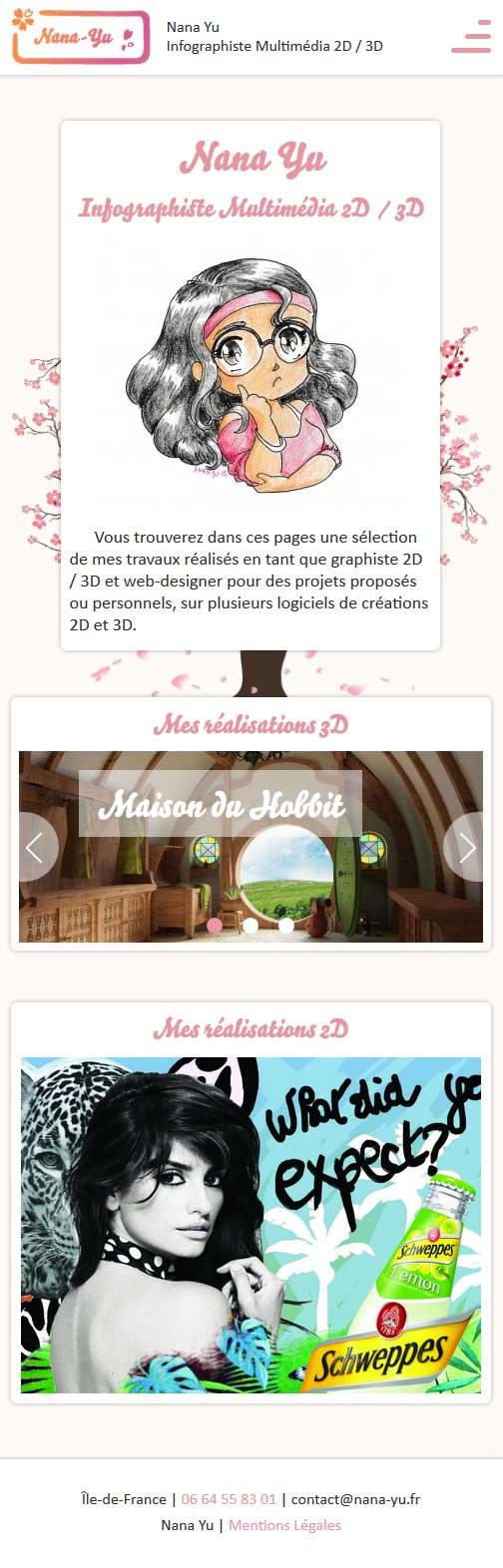 Site web nana-yu.fr - Responsive Mobile