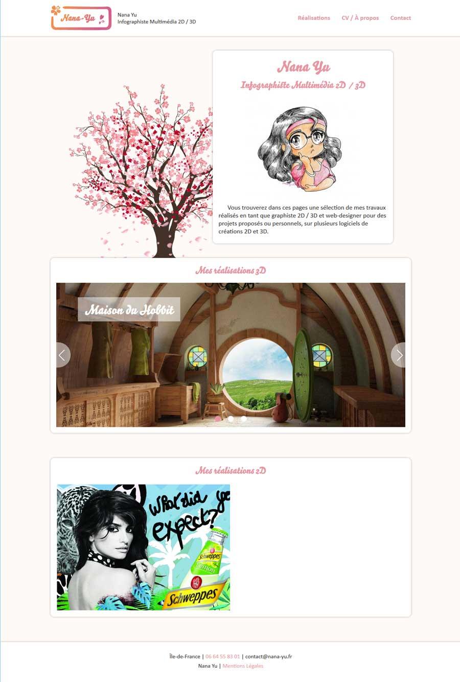 Site web nana-yu.fr - Responsive Pc