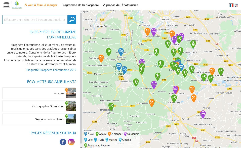 Site web biosphere-ecotourisme.com - Responsive Pc