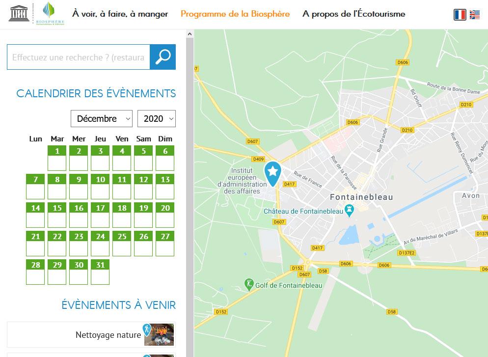 Site web biosphere-ecotourisme.com - Responsive Tablette